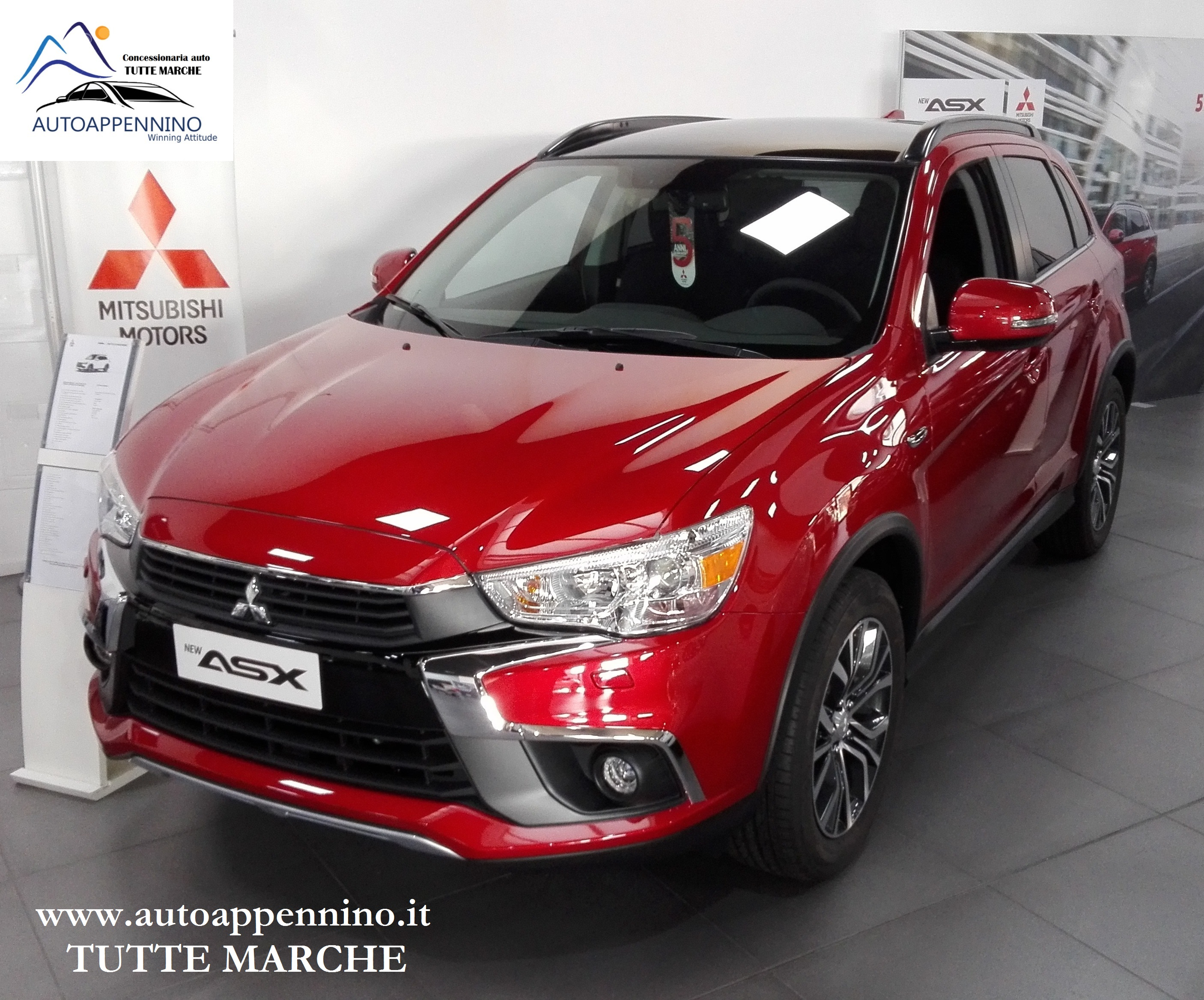 mitsubishi asx diesel 4wd 1 6 114 cv instyle panoramic orient red 25 900 euro in strada